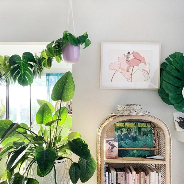 Lavender Loop Hanging Planter Lifestyle